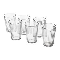 IKEA - VARDAGEN, Verre, Peut être utilisé pour des boissons chaudes.En verre trempé, ce qui rend ce verre solide et extrêmement résistant aux chocs.