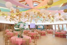 """Julia's """"My Great Big God"""" Inspired Party – Ceiling God Themes, Pink Table, Party Themes, Party Ideas, Event Styling, 1st Birthday Parties, Wonderful Time, Eat Cake, First Birthdays"""