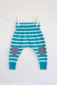 20-minute Baby Boho Leggings (...from an old shirt)!! Don't get rid of those old knit shirts...turn them into comfy little Baby Boho Leggings in only 20 minutes!