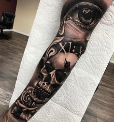 Sullen Hand Tattoos — Hand Tattoos & Home Decor Skull Girl Tattoo, Skull Sleeve Tattoos, Forearm Sleeve Tattoos, Best Sleeve Tattoos, Sleeve Tattoos For Women, Tattoo Sleeve Designs, Leg Tattoos, Body Art Tattoos, Tattoos For Guys