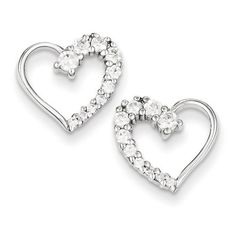 IceCarats Designer Jewelry Sterling Silver Cz Journey Earrings *** Check this awesome product by going to the link at the image.