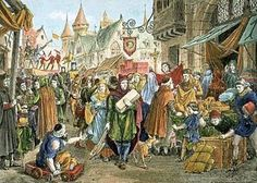 Middle class=A group of people, including merchants, traders, and artisans, whose rank was between nobles and peasants.