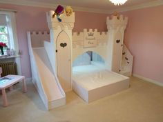Dreamcraft Princess castle delivery complete! Girls bedroom ideas! Children's themed beds available on our website :)