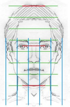 Quick tutorial on how to correctly draw Facial Proportions, by Twenty-First Century Art and Design.
