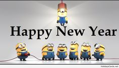 Funny minions new year card