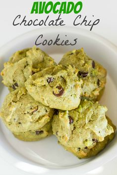 Avocado Chocolate Chip Cookies. A great toddler snack, healthy, and also vegan (but you could use regular eggs for the non-vegans.)