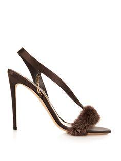 L'amazone satin and mink strap sandals | Olgana Paris | MATCHESFASHION.COM US