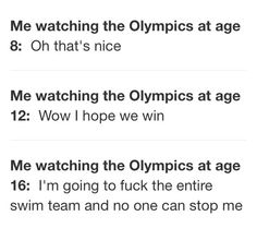 For my swimmer friends