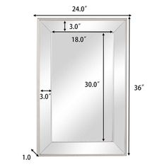 Tangkula Large Flat Framed Wall Mounted Mirror, Beveled Vanity Mirror with Premium Silver Glass Panel, Rectangle Mirror for Bathroom or Bedroom, 20 x 30 inches Framed Wall, Frames On Wall, Wall Mounted Mirror, Beveled Mirror, Bathroom Fixtures, Glass Panels, Bathroom Medicine Cabinet, Tub, Locker Storage
