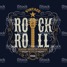 vintage rock and roll typograpic for t-shirt ,tee designe,poster royalty-free stock vector art