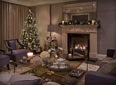 Unique Home Decor Ideas For A New Home Or Redecorating Formal Living Rooms, Living Spaces, Christmas Interiors, Classic House, White Decor, Unique Home Decor, Contemporary Interior, Living Room Interior, New Homes