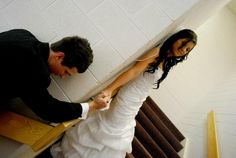 My cousin & his bride praying together before the wedding.