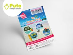 Relax Summer Agency Flyer #putodesignstudio#mockup#flyer#freelance