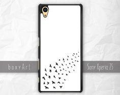 Sony Xperia Z3 Z5 Case Birds on White Background by boxyArts