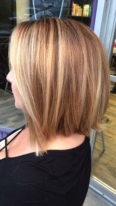 Bayalage, Salon Services, Inverted Bob, Long Bob, Cut And Style, Cute Hairstyles, Bobs, Salons, Highlights
