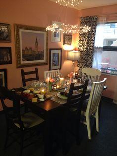 Pretty table ideas. Pink, black, white, silver & gold.