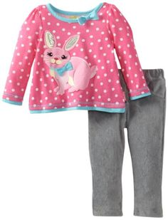 Watch Me Grow! by Sesame Street Baby-Girls Infant 2-Piece Bunny Pullover & Pant. 12m 16.900