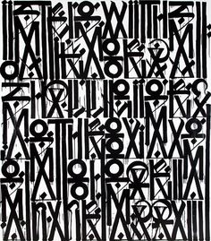 RETNA, I strike with words that will pierce through your heart, 2012. Enamel, acrylic and crystalina on canvas.