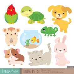 Home Pets Digital Clipart, Dog Clipart, Cat Clipart, Guinea Pig, Hamster Cat Clipart, Cute Disney Drawings, Hamster, Puppy Party, Digi Stamps, Pet Shop, Guinea Pigs, Cute Cartoon, Fun Crafts