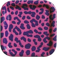 Unique Square Plate Pink Leopard 7  & Smartyware Fuchsia Pink Square Plastic Dinner Plates by ...