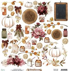 Washi, Pumpkin Tattoo, Background Vintage, Fall Flowers, Illustrations, Watercolor Illustration, Scrapbook Paper, Painting & Drawing, Decoupage