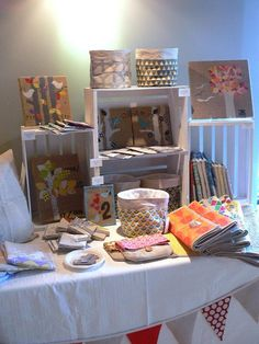 Jenny Bartoy booth at Holiday Arts + Crafts Open House by Stumbles & Stitches, via Flickr