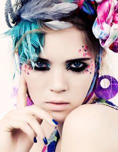 colorful#makeup #beauty #pastel #color #feminine #exquisite