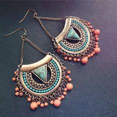 Boho Jewelry Boho Earring Bohemian Earring by LANOYEESILVER