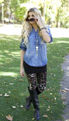 Leopard and CHAMBRAY!!