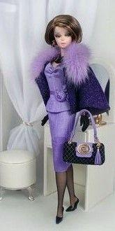 """""""Orchid"""" Suit for The Intervirw Silkstone Barbie by Culte de Paris Fashions."""