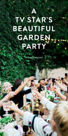 A lush garden party you only dream of being invited to // Beth Riesgraf