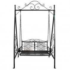 Garden Swing Wrought Iron Patio Outdoor Seat Bentley Bench Furniture Seater Yard for sale online Outdoor Swing Seat, Patio Swing, Outdoor Seating, Garden Hammock, Hammock Swing, Bench Furniture, Garden Furniture, Chicken Garden, Iron Decor