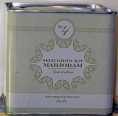 SMITH & HAWKEN Marjoram Seed Grow Kit by MARJORAM. $18.99. No. 4 This kit contains everythingyou need to grow fresh tea herbs. These herbs will add natural beauty and subtle aroma as they sprout and grown right from this tin. When ready, simply snip off a fw sprigs and hand to dry. Dried herbs are excellent for both brewing fresh tea and using them in your favorite recipe.