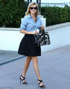 Chambray + skirt.