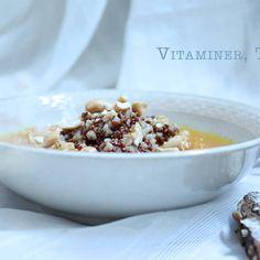 Gulrotsuppe med quinoa og byggryn