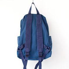 WONDER BAGGAGE ワンダーバゲージ / Relax bag : blue × navy リラックス・バッグ ブルー × ネイビー - struct