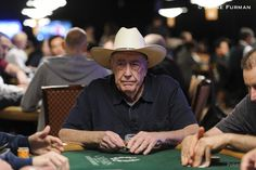 'Texas Dolly' plays Event #43: $1,000 Super Seniors No limit texas hold'em.Doyle Brunson @ 2015 World Series of Poker (WSOP) via Dan Heimiller, Nolan Dalla, Chad Holloway and Michael Eakman. Doyle is a funny cat. He abhors publicity. Just wants to play poker and be one of the guys. But this moment was special. One never knows how long Doyle will be playing events that take lots of time and energy. He's semi-retired from the WSOP now, but decided at the last minute to play the 2015 WSOP.