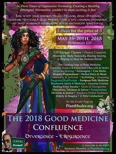 Super excited to head out to this amazing and unique herbal confluence next month!