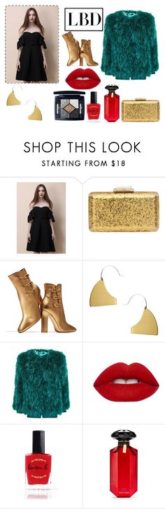 """""""A Glam Way To Wear A Little Black Dress"""" by andrada-870 ❤ liked on Polyvore featuring Chicwish, KOTUR, Gianvito Rossi, Fay Andrada, Lime Crime, Lauren B. Beauty, Victoria's Secret, Christian Dior and LBD"""