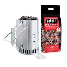 Grill Starter Set Rapidfire Chimney Charcoal BBQ Outdoor Home Camping Cooking  #Weber