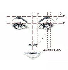 Golden Mean CALIPERS Eyebrow Microblading Permanent Makeup Ratio Measurement Tool Fibonacci Gauge Symmetrical Tattoo Ruler Makeup Tips, Eye Makeup, Eyebrow Makeup Tutorials, Makeup Ideas, Eyeshadow Tutorials, Makeup Goals, Symmetrical Tattoo, Face Drawing Reference, Drawing Tips