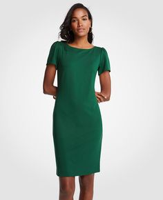 https://www.anntaylor.com/puff-sleeve-ponte-sheath-dress/456526