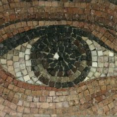Eye mosaic, World Trade Center Underground Subway Station, New York City, USA