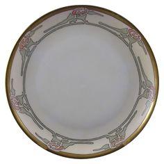 "Hutschenreuther Selb Bavaria Arts & Crafts Floral Motif Plate (Signed ""P. Cramer""/Dated 1913)"