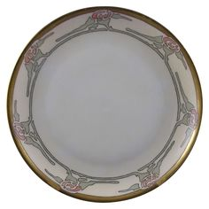 "Hutschenreuther Selb Bavaria Arts & Crafts Floral Motif Plate (Signed ""P. Cramer""/Dated 1913)"