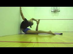 Exercises on wall for back flexibility