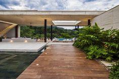 flachdachhaus terrasse beton überdachung ausschnitt