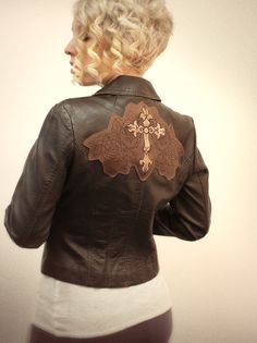 Tutorials | Urban Threads: Craft your own motorcycle inspired embellished leather jacket by layering embroidery designs!
