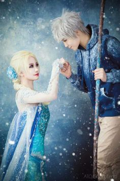 Elsa and Jack Frost Cosplay
