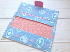 Custom Made Woman Vegan Wallet Fabric Bifold by BlueRabbitHandmade